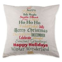 Buy Make-Your-Own-Pillow Holly Script Square Throw Pillow ...