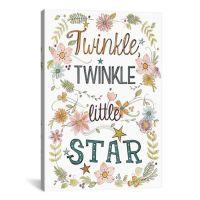 "iCanvas Sweet Sayings II ""Twinkle, Twinkle Little Star ..."