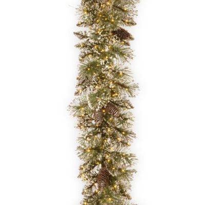 National Tree Company 9 Foot Pre Lit LED Glittery Bristle