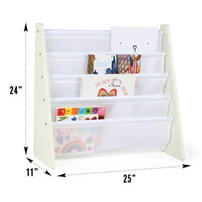 tot tutors cambridge book magazine rack in white