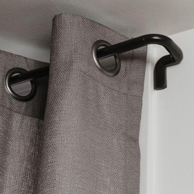 umbra twilight room darkening 3 4 inch adjustable drapery rod