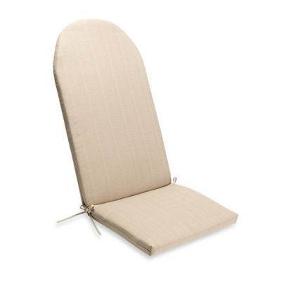 making adirondack chair cushions gaming with surround sound and vibration shoptagr medford outdoor cushion in flax by bed