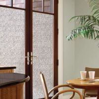 Decorative Privacy Film Door Glass Cling in Mosaic - Bed ...