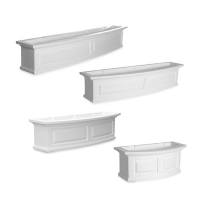 Mayne Nantucket Window Box in White