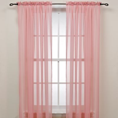 Pink Rod Pocket Sheer Window Curtain Panel Bed Bath & Beyond