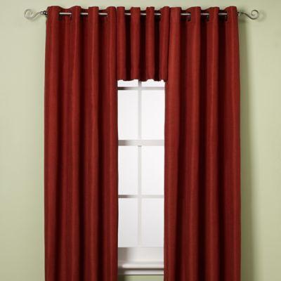 Reina Grommet Window Curtain Panel and Valance  Bed Bath