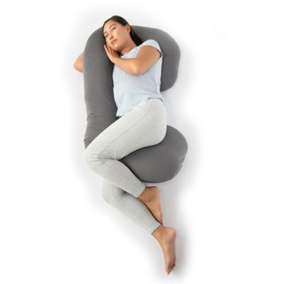 therapedic pregnancy pillow in grey