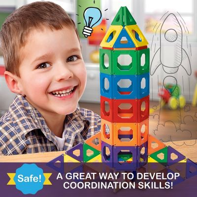 discovery kids 50 piece magnetic tile set
