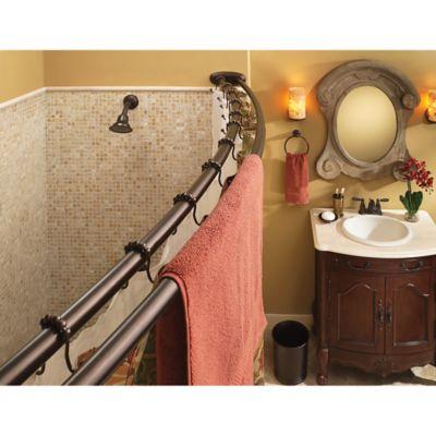 moen double shower curtain hooks set of 12