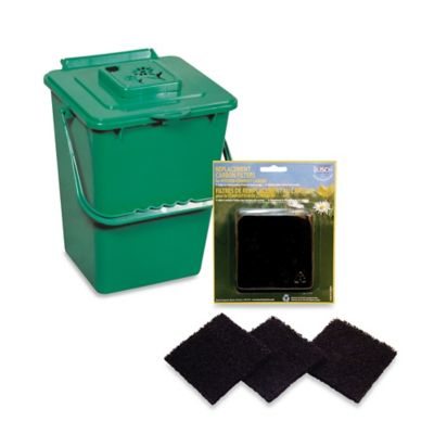 compost pail kitchen best way to clean wood cabinets in green - bed bath & beyond
