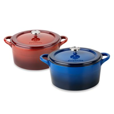 calphalon kitchen essentials dutch oven cupboard gadgets simply calphalon® enamel cast iron 7-quart ovens ...