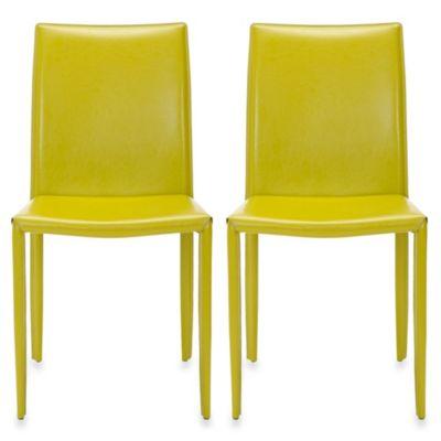 safavieh karna dining chair klismos (set of 2) - bed bath & beyond