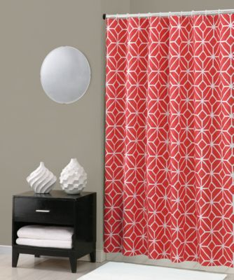 Trina Turk® Trellis Shower Curtain In Coral Bed Bath & Beyond
