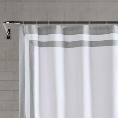 wamsutta hotel border shower curtain