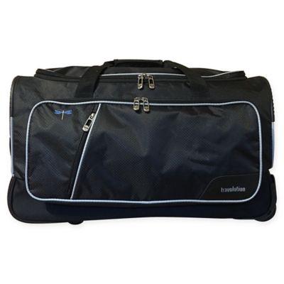travolution 23 inch wheeled garment rack duffle bag in black