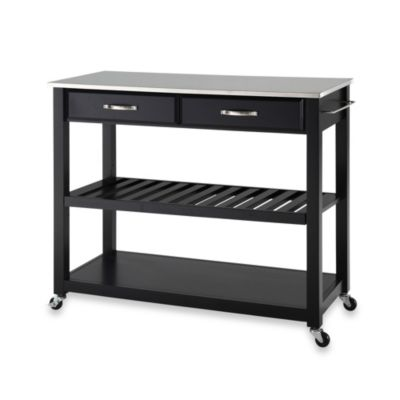 Buy Crosley Stainless Steel Top Rolling Kitchen Cart