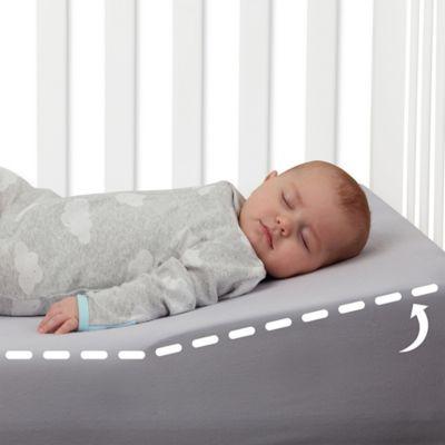 la baby universal crib wedge in white