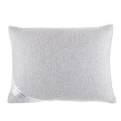 brookstone biosense charcoal infused pillow in white