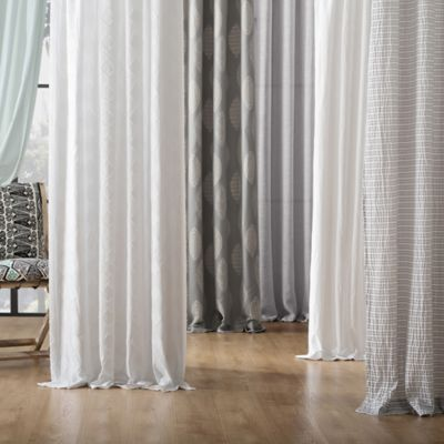 archaeo washed cotton tab top window curtain panel