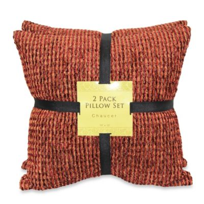 Chaucer Spice Chenille SelfReversing 2Pack Pillow  Bed