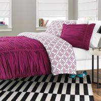 Reagan Reversible Comforter Set in Fuchsia ...