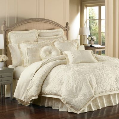 ivory and beige bedroom J. Queen New York® Olympia Comforter Set - Bed Bath & Beyond
