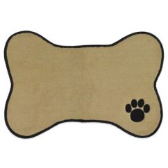 Bed Bath And Beyond Kitchen Mat Cupboard Handles Paw Embroidered Pet In Taupe - &