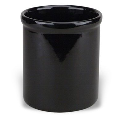 Buy Ceramic Utensil Holder Crock in Black from Bed Bath