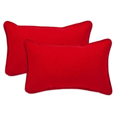 Buy Pompeii Red Oblong Throw Pillow Set of 2 from Bed
