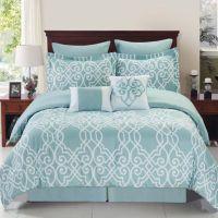 Dawson Reversible Comforter Set in Blue/White - Bed Bath ...