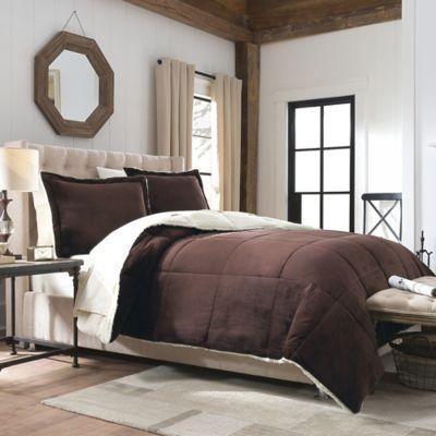 Comforter Set Velvet Berber Reversible Plush Queen