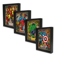 Marvel Heroes 3D Lenticular Wall Art Collection - Bed Bath ...