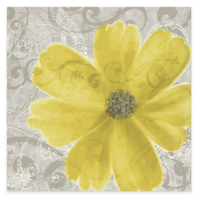 personalized kitchen sign home remodeling flower yellow poppy canvas wall art - bed bath & beyond