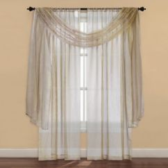 Kitchen Curtain Ideas Cabinets Black Strive Sheer Window Panel And Scarf Valance - Bed ...