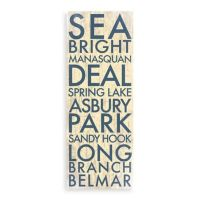 Jersey Shore North Landmark Typography Canvas Wall Art ...