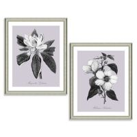Purple and White Botanical Framed Wall Art - Bed Bath & Beyond