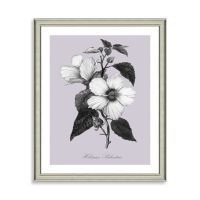 Buy Purple and White Botanical I Framed Wall Art from Bed ...