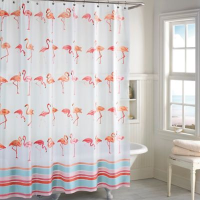 Flamingo PEVA Shower Curtain Bed Bath Amp Beyond