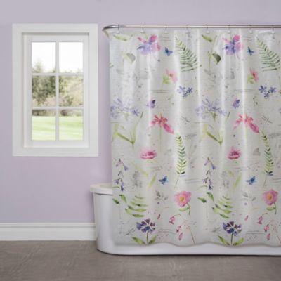 Soft Nature PEVA Shower Curtain  Bed Bath  Beyond