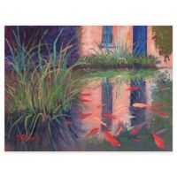 Coy Koi All Weather Outdoor Canvas Wall Art - Bed Bath ...