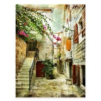 Quiet Courtyard All Weather Outdoor Canvas Wall Art - Bed ...