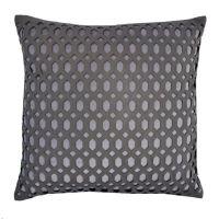 Callisto Home Faux Leather Accented Cleo Square Throw ...