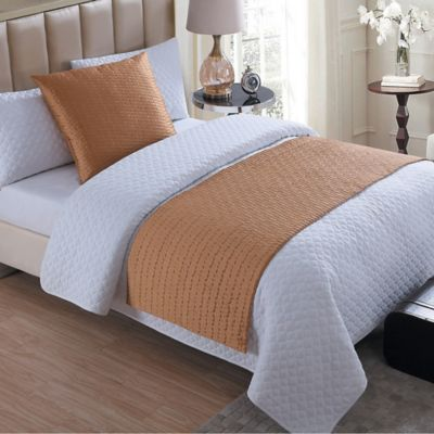 Buy VCNY Serna Quilted Bed Runner in Gold from Bed Bath