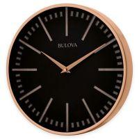 Bulova Classic Wall Clock in Copper - Bed Bath & Beyond