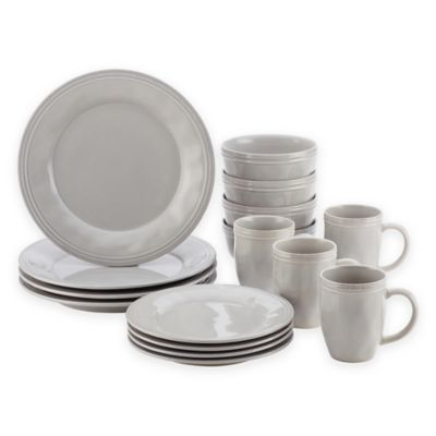Rachael Ray Cucina Dinnerware Collection in Grey Bed