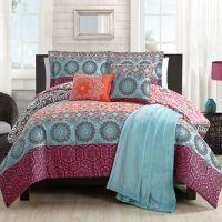Boho Chic Comforter Set in Orange