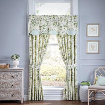 Waverly 174 Fleuretta Scalloped Cotton Window Valance In