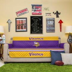 Sofa Support Bed Bath And Beyond Flip Out Australia Nfl Minnesota Vikings Cover - &