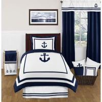 Buy Sweet Jojo Designs Anchors Away Twin Comforter Set ...