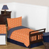 Buy Sweet Jojo Designs 5-Piece Orange and Navy Arrow ...